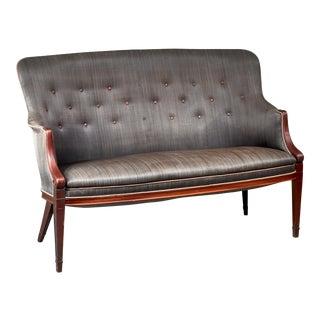 Frits Henningsen Horsehair Sofa, Denmark, 1940s For Sale