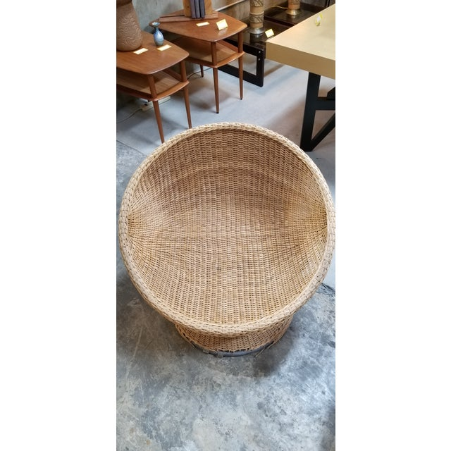 Rattan 1970's Mod Rattan Lounge Chairs, a Pair For Sale - Image 7 of 10