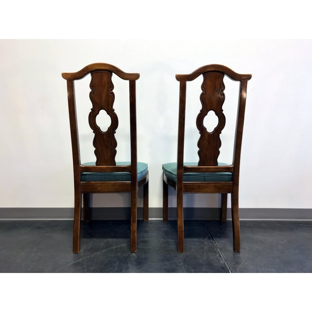 Fabric THOMASVILLE Mystique Asian Chinoiserie Dining Side Chairs - Pair 1 For Sale - Image 7 of 13
