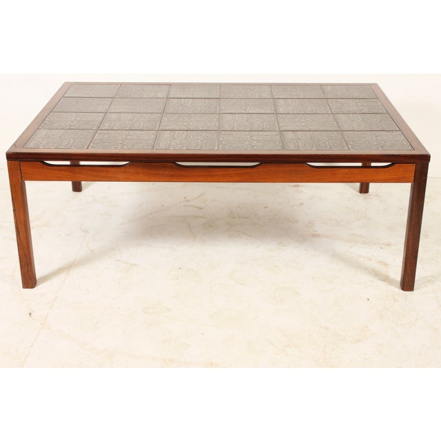 Mid-Century Modern Tile Top Center Table - Image 2 of 4