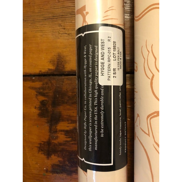 Rifle Paper Co/Hygge & West collaboration. Safari wallpaper in blush (colorway has been discontinued). One roll is new, in...