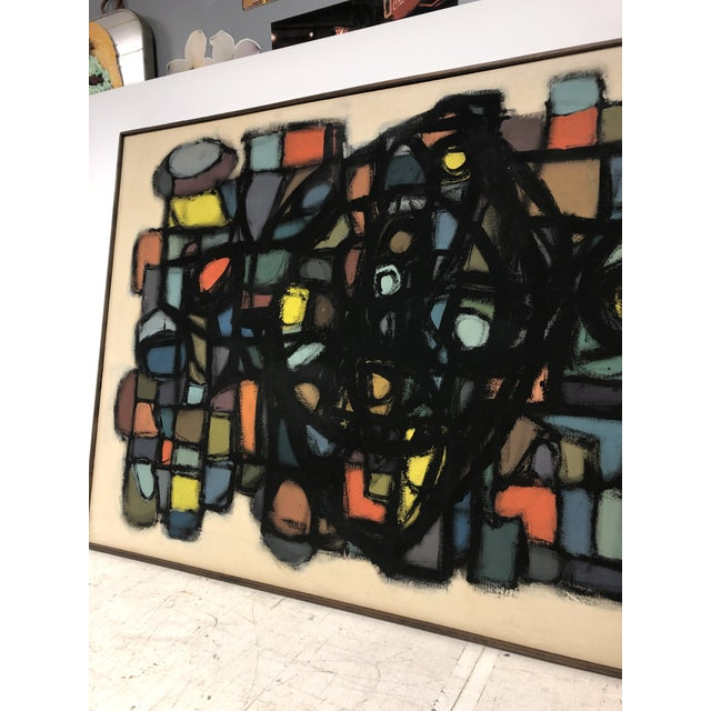 1960s 1960's Abstract Oil Painting by J. S. DeYoe For Sale - Image 5 of 7
