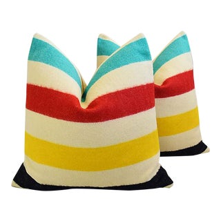 "Hudson's Bay Camp Blanket Feather/Down Pillows 25"" Square - Pair"