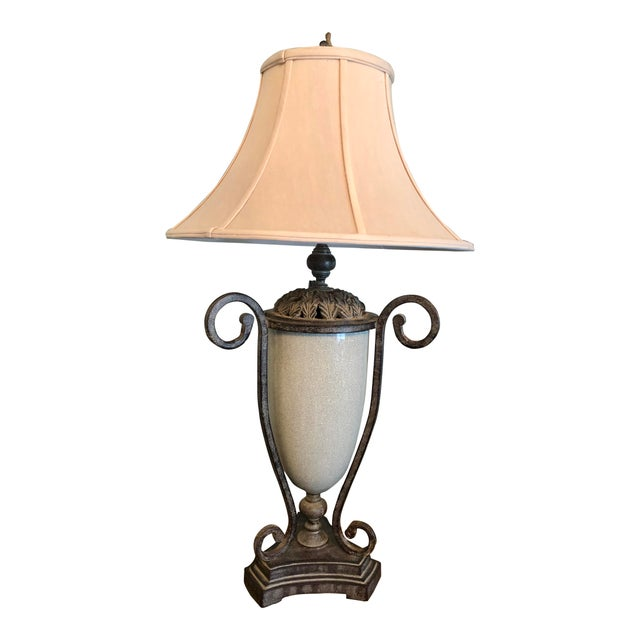 Table Lamp & Lamp Shade For Sale - Image 9 of 9