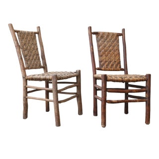 Two Old Hickory Side Chairs
