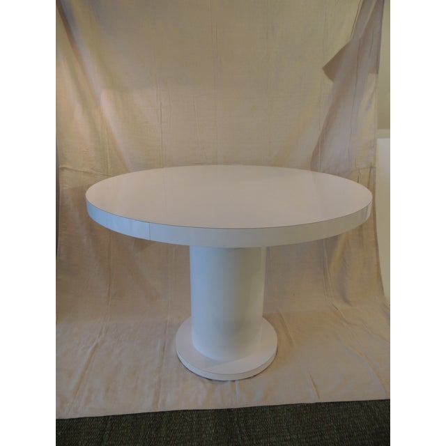 Late 20th Century Vintage White Formica Circular Dining Table For Sale - Image 5 of 9