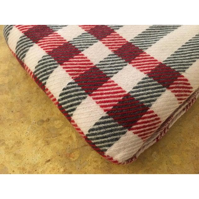 Black & Red Plaid Cashmere Blanket - Image 7 of 8