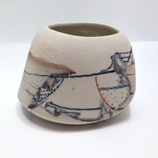 Late 20th Century Fine Art Contemporary Ceramic Vessel - Image 3 of 13