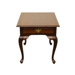 20th Century Queen Anne Kincaid Solid Mountain Cherry End Table For Sale