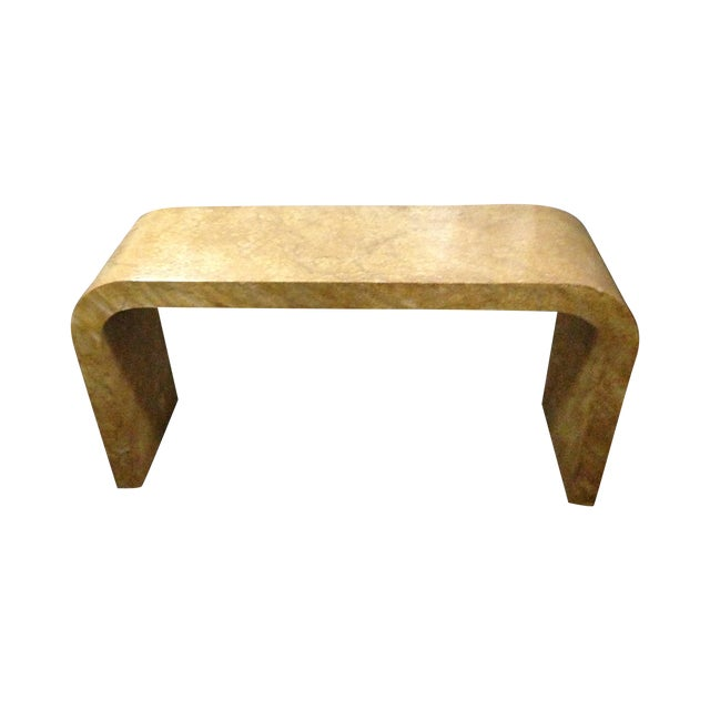 Karl Springer Style Oil Drop Finish Table - Image 1 of 5