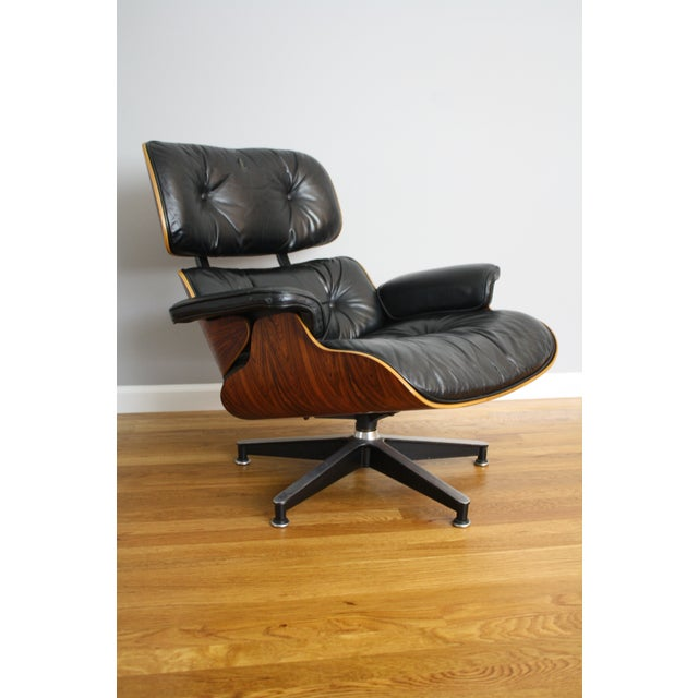Charles and Ray Eames for Herman Miller 670 & 671 Rosewood Lounge Chair - a Pair - Image 3 of 11