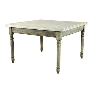 19th Century French Rustic Limestone Top Game Table - Center Table For Sale