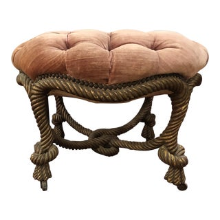 Early 20th Century Vintage Rope Stool For Sale