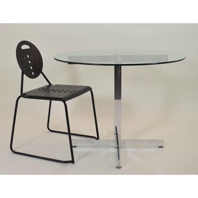 1970s Polished Aluminum Modernist Table For Sale - Image 5 of 6