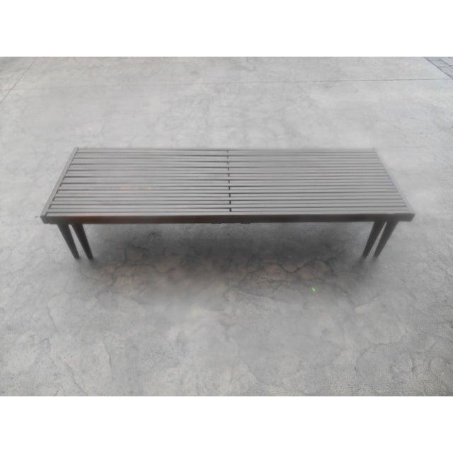 Danish Modern Mid-Century John Keal for Brown-Saltman Expandable Slat Bench For Sale - Image 3 of 8