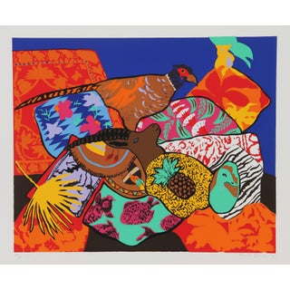 "1980s Hunt Slonem, ""Stuffed Pheasant"", Pop Art Screenprint For Sale"
