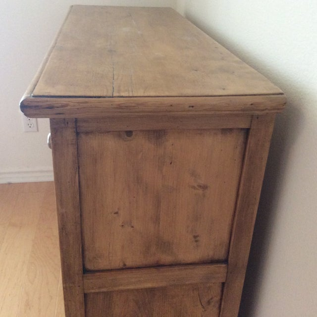 English Traditional Antique English Pine Buffet For Sale - Image 3 of 4