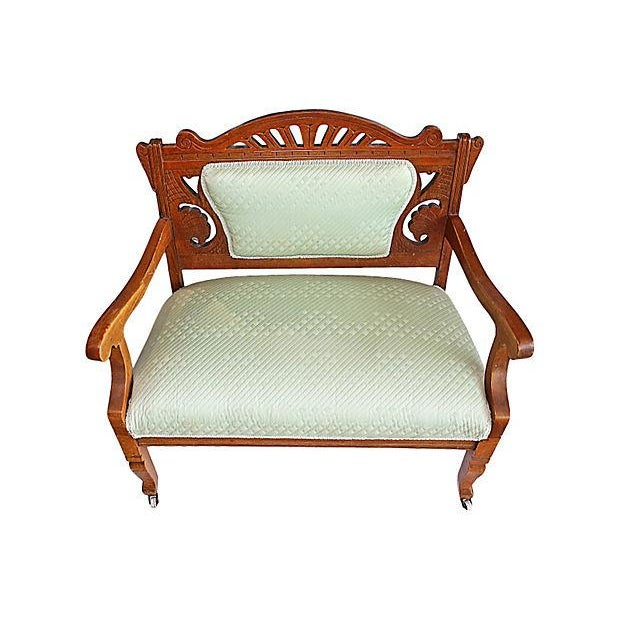 Antique Eastlake Style Settee - Image 4 of 6