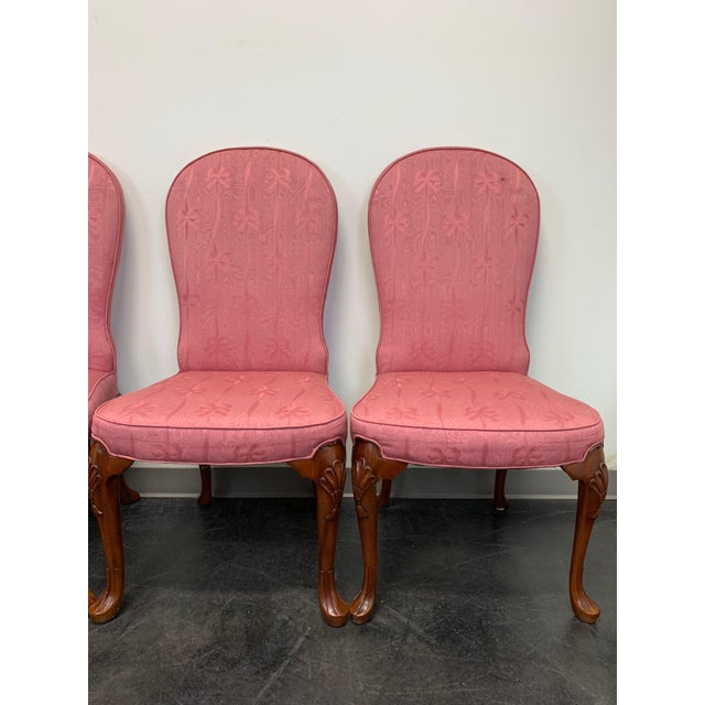 Queen Anne John Widdicomb Queen Anne Style Dining Parsons Side Chairs - Set of 4 For Sale - Image 3 of 12