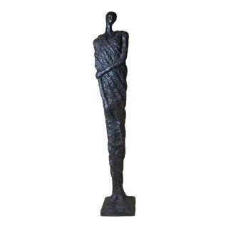 Abstract Cast Iron Statue of Woman For Sale