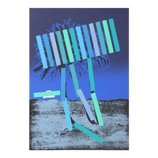 """Blue Palm"" Working Proof Print by Menashe Kadishman For Sale"