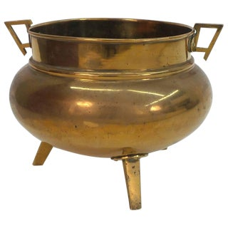 English Aesthetic Movement Period Brass Planter For Sale