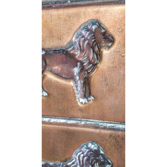 Metal Vintage Copper Chocolate Candy Mold Mould Lion Tray For Sale - Image 7 of 9