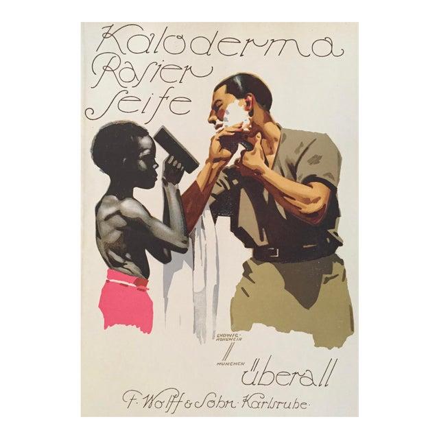 1927 German Art Deco Fashion Poster, Kaloderma Rasier Seife - Image 1 of 5