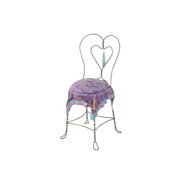 Chinoiserie Style Heart Ice Cream Accent Chair - Image 2 of 6