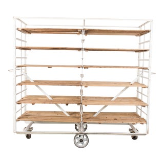 1960s Vintage Metal Bakery Trolley For Sale