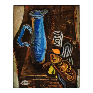 """1940s Georges Braque """"The Blue Vase"""" Original Period Swiss Lithograph For Sale"""