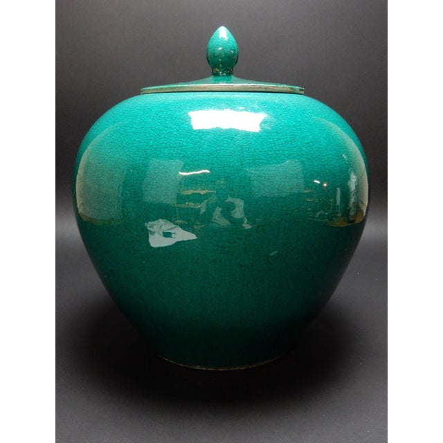 Chinese Crackle Glazed Ginger Jar - Image 4 of 11
