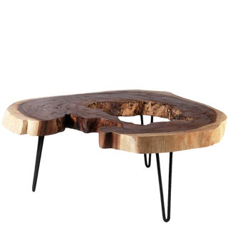 Organic Modern Lake Living Edge Coffee Table For Sale