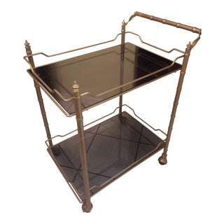 Mid Century Vintage Bar Cart For Sale