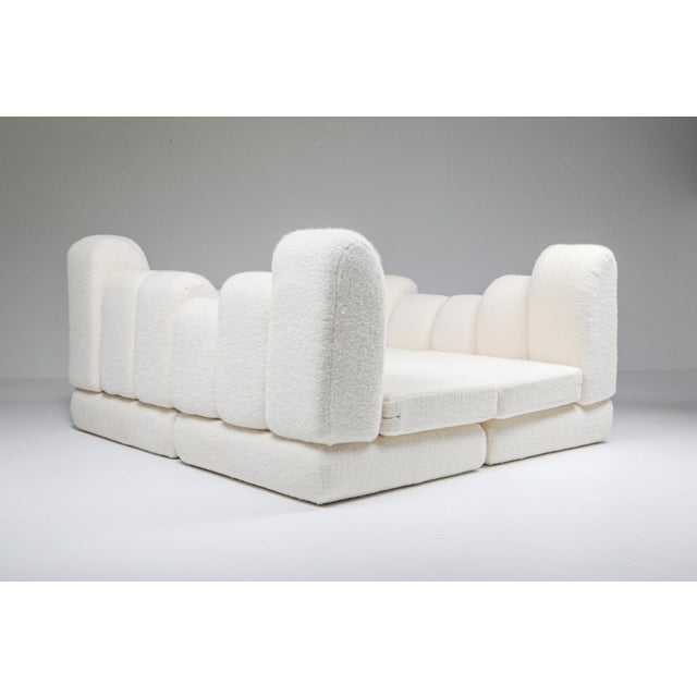 Mid-Century Modern Hans Hopfer 'Dromedaire' Sectional Sofa in Pierre Frey Wool, Roche Bobois - 1974 For Sale - Image 3 of 12
