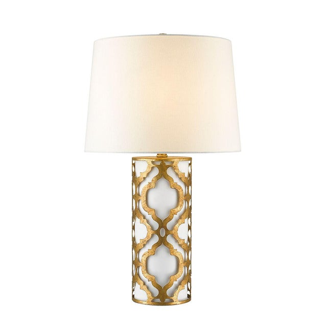 White Contemporary Arabella Gold Table Lamp For Sale - Image 8 of 10