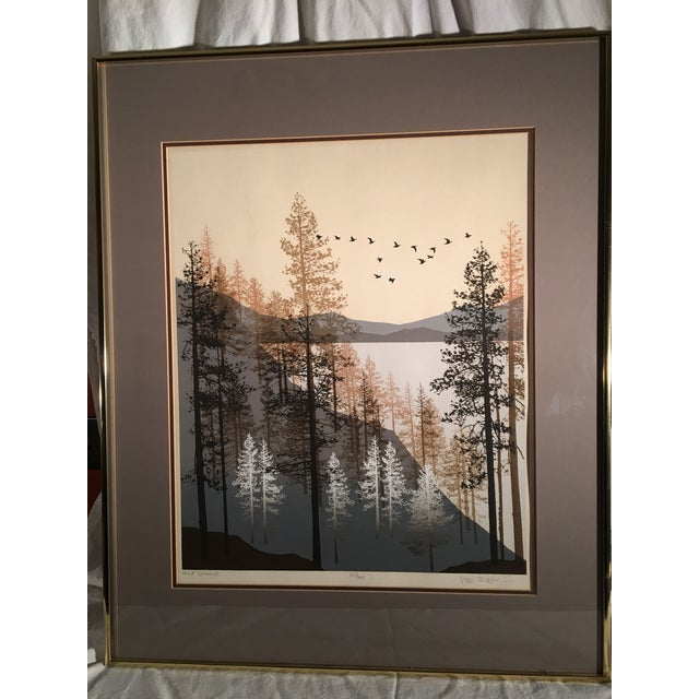1980s Virgil Thrasher 'Lake Summit' Serigraph For Sale In Buffalo - Image 6 of 6