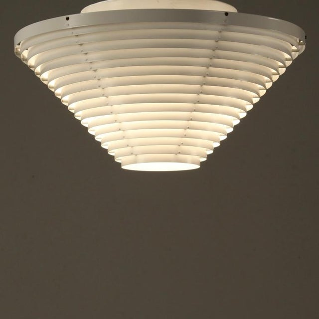 Mid-Century Modern Alvar Aalto A622 Ceiling Light. Rare First Valaistustyö Edition, Finland, 1950s For Sale - Image 3 of 5