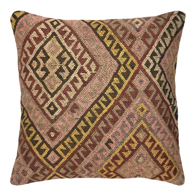 """Muted MidCentury Kilim Pillow 