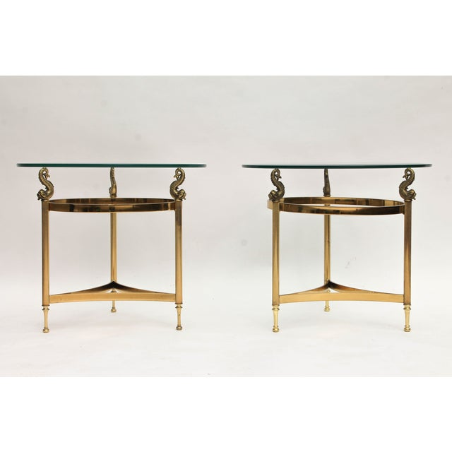 DIA Brass & Glass Side Tables - A Pair - Image 9 of 9