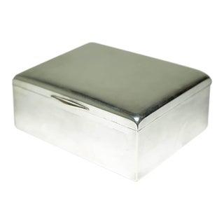 High Polished Silver Humidor