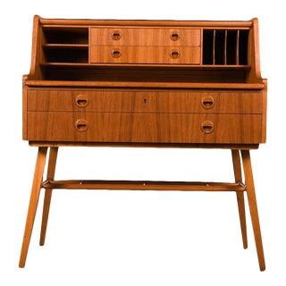 Ab Broderna Gustafssons Scandinavian Mid Century Vintage Secretary Desk For Sale