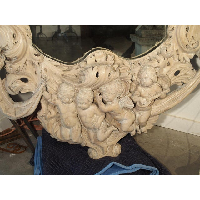 Baroque Monumental 19th Century Baroque Mirror from Italy For Sale - Image 3 of 11