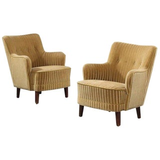 1940s Danish Bergere Armchairs - A Pair For Sale