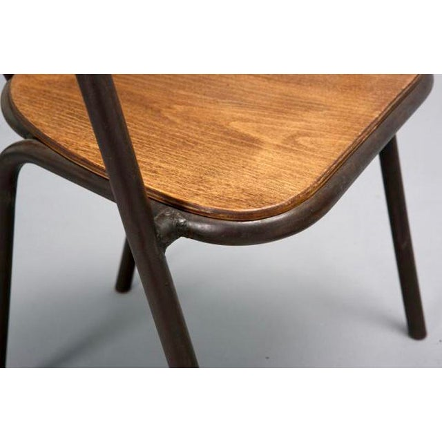 Mid-Century Metal and Wood Armchairs - Set of 6 For Sale - Image 5 of 9