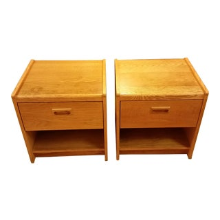 1970s Danish Modern Style Cube Nightstands - a Pair For Sale