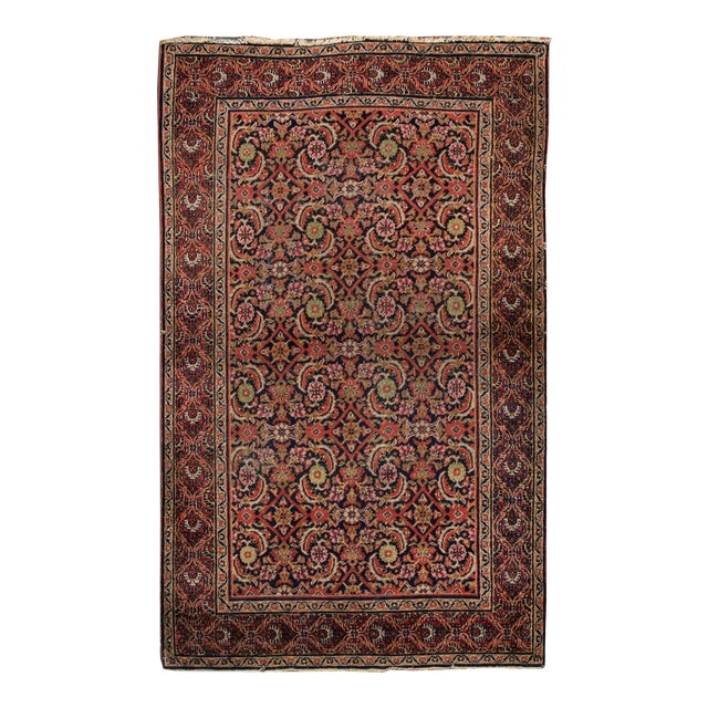 Vintage Persian Wool Rug 3'10'' X 6'4'' For Sale