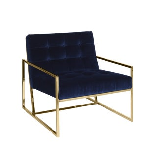Modern Pasargad's Firenze Collection Lounge Chair For Sale