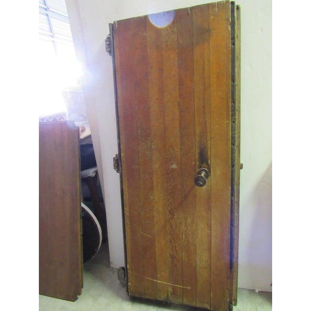Vintage Oak Walk in Fridge Door Architectural Salvage For Sale - Image 5 of 10