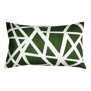 Pillow Decor Bird's Nest Green 12x20 Pillow For Sale